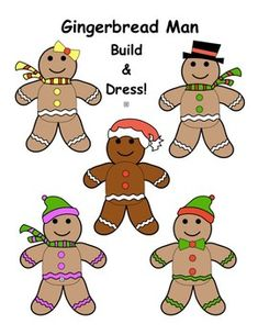 Just copy on cardstock and have students color, cut and paste. Students will have a choice of accessories, like hats, scarves, and bowtie.Other Gingerbread man activity belowGingerbread Man Counting and Coloring. Christmas Printable Activities, Gingerbread Man Activities, Cut And Paste, Christmas Centerpieces, Card Stock, Kindergarten, Scarves, Students, Building