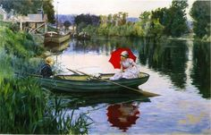 Тихий день на Сене - Джулиус Леблан Стюарт_американский художник 1855-1919_1880