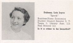 There's Spook, who asks the hard-hitting questions.   The 1951 East High School Yearbook Is Better Than Yours
