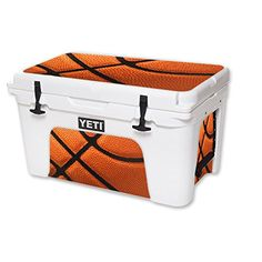 MightySkins Protective Vinyl Skin Decal for YETI Roadie 20 qt Cooler wrap cover sticker skins Basketball * For more information, visit image link.(This is an Amazon affiliate link)