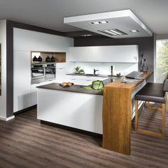 Design Küche mit Barlösung - Hints for Women Modern Home Interior Design, Contemporary Kitchen Design, Kitchen Interior, Kitchen Decor, Design Kitchen, Handleless Kitchen, Sweet Home, Bespoke Furniture, Küchen Design