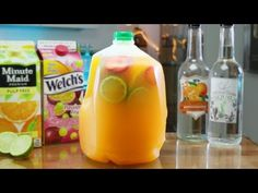 Win Spring Break By Making This Margarita By The Gallon Concoction Watermelon Mixed Drinks, Tequila Mixed Drinks, Booze Drink, Mixed Drinks Alcohol, Party Drinks Alcohol, Fun Drinks, Beverages, Alcoholic Punch Recipes, Alcohol Drink Recipes