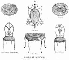 Designs of Furniture From Hepplewhite's Guide - George Hepplewhite - Wikipedia