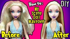 Barbie My Scene Doll Makeover - How to Fix Barbie Doll Hair - DIY Barbie...