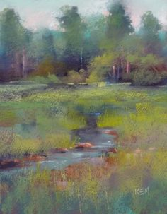 Painting with the Terry Ludwig Southeastern Pastels...the Marsha Savage Set, painting by artist Karen Margulis