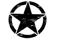 "Toyota FJ Cruiser 6"" Oscar Mike Freedom Distressed Star Hood Decal"