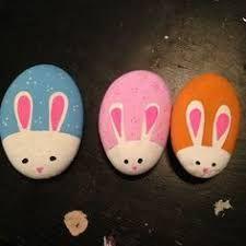 Resultado de imagem para bunny rabbit painted rocks