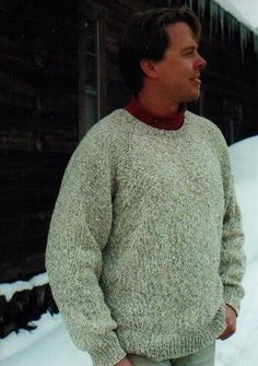 Knitting Pure and Simple Men's Sweater Patterns - 991 - Neckdown Pullover for Men Pattern
