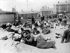 Courting couples on the beach at Yarmouth, 1893. Martin had to master composing his photographs without using a viewfinder due to the method with which his detective camera worked. He was able to create some of the earliest examples of street photography from this unusual perspective Photograph: Paul Martin/ Getty Images