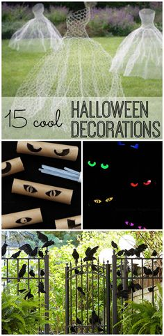 How will you get into the Halloween spirit? I'm going to fill my house with these cool DIY Halloween decorations!