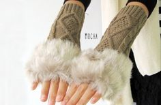 Women's Arm Warmers Women's Accessories Capable Fashion Snake Shape Womens Arm Warmers Winter Knit Long Sleeves Gloves For Woman Girls Fingerless Glove Clear-Cut Texture