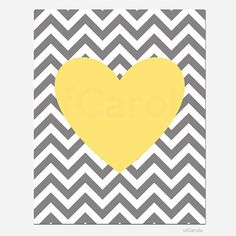 Items similar to Yellow Gray White Chevron Nursery Heart Wall Art Print, Boys Girls Kids Family Couple Love Home Room Decor Bold Heart Shape ofCarola on Etsy Ikea Kids Room, Kids Room Wall Art, Yellow Art, Yellow Walls, Heart Wall Art, Yellow Nursery, Kids Room Organization, Bathroom Art, Bathroom Yellow