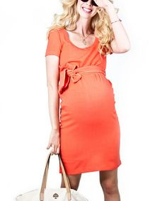 Take a look at this Coral Balfour Maternity Dress by Madeleine Maternity on #zulily today!