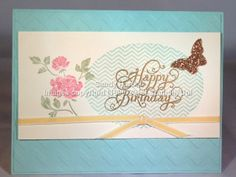 Stampin'Up! hand-stamped greeting card, Oh Hello, Bitty Butterfly