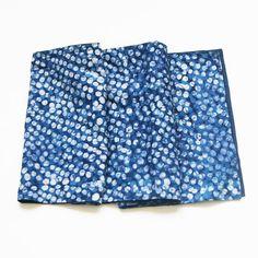 SALE:  Cotton Cloth Handprinted Tablerunner- Blue Dot Pattern - RUNNER- Rustic Loom #rusticloom