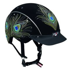 Casco's bedazzled peacock helmet-  How fun is this!?