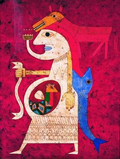 As an early adherent of the Surrealist movement, Victor Brauner actively explored the realm of dreams and Outsider Art, Victor Brauner, Art Brut, Turkish Art, Art Corner, Naive Art, Mural Art, Fantastic Art, Recycled Art
