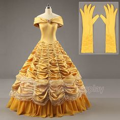 Beauty-and-the-Beast-Adult-Costumes-Luxurious-Princess-Belle-Dress-Cosplay Can order this dress for $120