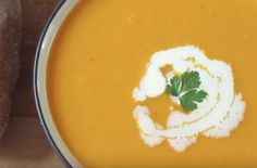 Pumpkin Soup | Pumpkin soup embodies the essence of fall. This insanely easy soup is made completely from scratch including the pumpkin.