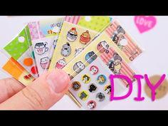 DIY Miniature Stickers - YouTube