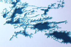 Rainy Lake - original 8 x 10 papercut art