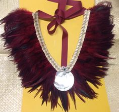 Feather Neck Piece.. Perfect For Tahitian & Cook Island