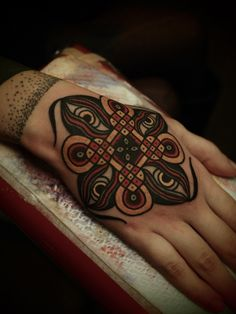 hindu eye design by guy le tatooer #hand #tattoos