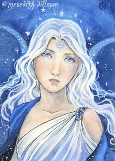 how do you draw a moon goddess - Google Search