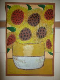 WHAT'S HAPPENING IN THE ART ROOM??: 3rd Grade Van Gogh Sunflowers