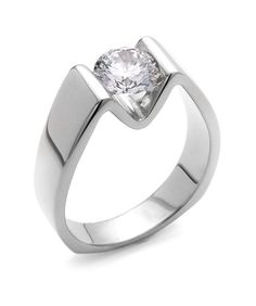 Jewelry Diamond : Blissful Engagement Ring Love the modern setting . - Buy Me Diamond Diamond Rings, Diamond Engagement Rings, Diamond Jewelry, Jewelry Rings, Fine Jewelry, Unusual Engagement Rings, Ruby Rings, Halo Diamond, Jewelry Ideas