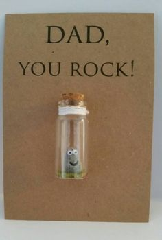 Dads will love this fun little You Rock keepsake. Quirky & unique, with a serious message....Dads really do rock! Hell smile every time he looks at it. Comes attached to a single sheet of approx 4 x 6 card (As shown in Picture 2) Or Choose the personalised option and you can add names to the example quote (As shown in Picture 1) or you can choose to change the message completely. ****PLEASE NOTE ONLY THE FRAMED ITEMS CAN BE PERSONALISED**** Personalising the keepsake... When you purchase…