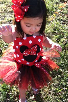 Gorgeous minnie mouse tutu with top PERSONALIZE by yunuesalazar