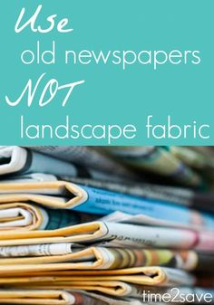 "TweetEmail TweetEmail Share the post ""Newspaper or Landscape Fabric 
