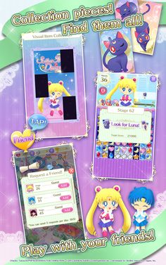 Sailor Moon Drops Official Mobile Game for iTunes & Android by Bandai Namco : )