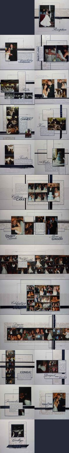 Wedding Scrapbook Layout