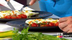 """- Plat / Viande - Anne Alassane vous propose sa recette de """"Omelette blanche aux ris de veau et son sabayon d'agrumes"""" inspirée de la recette de Philippe Lars """"Croustillant de ris de veau aux petits légumes"""""""
