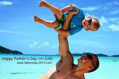 USA Father's Day 2013 Images, Pictures Wishes, DAD working out with Kid