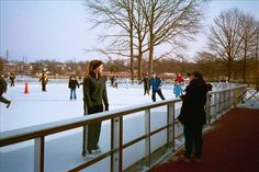 Ice skating in Roosevelt Park, Edison!