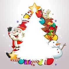 "Photo from album ""Новогодние открытки"" on Yandex. Merry Christmas, Christmas Frames, Christmas Pictures, Christmas Time, Paper Decorations, Christmas Decorations, Christmas Ornaments, Christmas Activities, Christmas Printables"