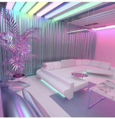 Me encantaría pasar un día solo en esta habitación Habitación Vaporwave Room -