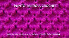 Punto tejido a crochet para bufandas y cobijas para bebe