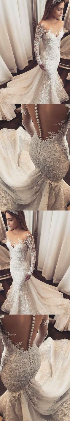 Beautiful Bride dress #LaceWeddings