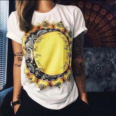 • Moon Sun Graphic Tee • Brand new in package! The perfect cotton graphic tee. Super soft and a great fit✌ Tops Tees - Short Sleeve