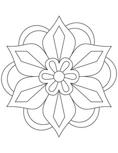 Diwali Rangoli Coloring Pages | Flower rangoli coloring page