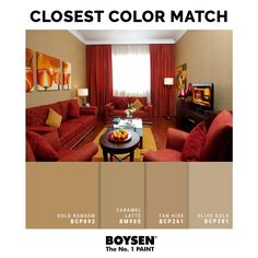 Warm and Analogous: When dealing with red floors, such as maroon tiles or carpets, other warm tones near red on the color wheel can be attractive options for the walls. Using a light yellow shade can create a softer look without sacrificing the bold, striking effect. #interiordesign #livingroom #decoratingtips #painting #red #yellow #redfloor Red Living Room Set, Bright Living Room Decor, Classy Living Room, Living Room Colors, Living Room Decor Images, Bedroom Decor Pictures, Gold Bedroom Decor, Beige Living Room Furniture, Beige Living Rooms