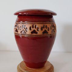 Memorial Urns, Dog Memorial, Dog Prints, Dog Weight, Pet Urns, Red Dog, Dog Paws, Handmade Ceramic, Print Design