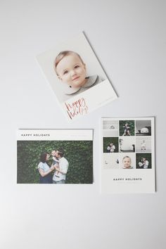 The 2014 Artifact Uprising Holiday Card Collection | Premium Quality 100% recycled photo cards can be made online or from your iPhone.