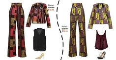 Blazer & pants ~Latest African Fashion, African Prints, African fashion styles, African clothing, Nigerian style, Ghanaian fashion, African women dresses, African Bags, African shoes, Kitenge, Gele, Nigerian fashion, Ankara, Aso okè, Kenté, brocade. ~DKK