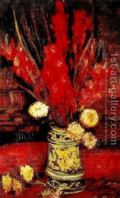 Vase With Red Gladioli II Vincent Van Gogh Reproduction | 1st Art Gallery