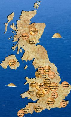 The Definitive Pie Map Of The UK ~ with links to recipes